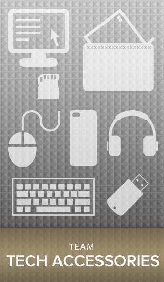 Picture of tech accessories. Click to shop Team Tech Accessories collection.